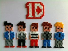 One Direction fridge magnet stickers hama perler beads by akashalondon
