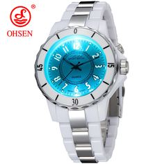 6b6ca1a6899 Hodinky OHSEN Women s Luxury Waterproof Sports Watches 7 Multi-color Led  Light Clock Watch FG0736