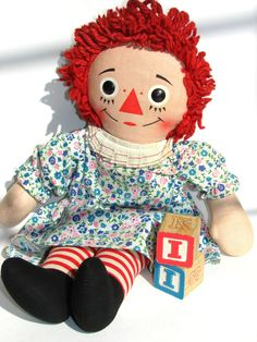 Vintage Raggedy Anne Doll  Had one of these when I was a little girl