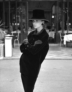 Yves Saint Laurent 'smock' suit, photo John French. London, UK, 1962
