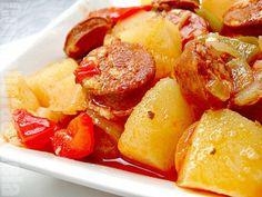 Patatas guisadas con chorizo/ Stewed potatoes with chorizo  RECIPE