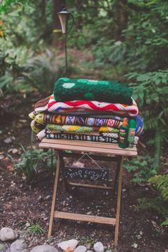 Crochet Blankets Treehouse Forest Wedding Washington…