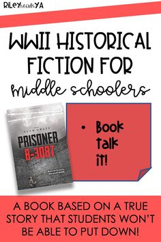 Riley Reads YA | Looking for a historical fiction page-turner for your students? Look no further! This novel is perfect for literature circles, reluctant readers, and it will fly off your shelves. Click to read more about this WWII text. #middlegradebooks #independentreading #classroomlibrary Reluctant Readers, Middle School Ela, Literature Circles, Independent Reading, Page Turner, Historical Fiction, True Stories, Prison, Wwii
