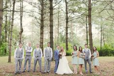 Mismatched groomsmen style bridal party style at rustic wedding | KJ and Co. www.kjandco.ca | Trusted for one of a kind weddings in Burlington Oakville Hamilton Niagara Toronto GTA wedding planner, coordinator