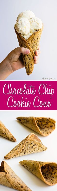 Chocolate Chip Cookie Cone recipe and tutorial!! Awesome! So easy & delicious! Great video tutorial too!