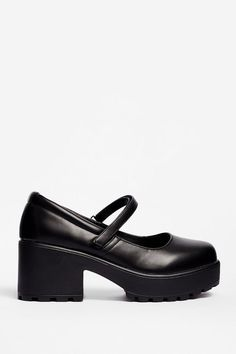 Chunky Platform Mary Janes | Nasty Gal Socks And Heels, Mary Jane Shoes, Brogues, Nasty Gal, Block Heels, Cleats, Mary Janes, Ankle Strap, Nice Dresses