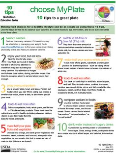 Choose MyPlate: 10 Tips to a Great Plate!