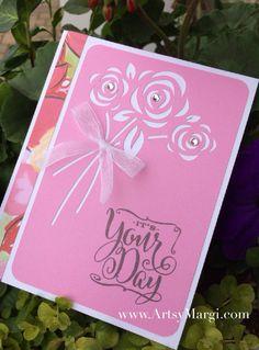 CTMH Artfully Sent Cricut Cartridge. Pretty in Pink card. www.ArtsyMargi.com