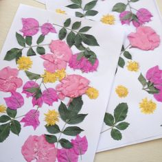 DIY Sheets of floral wrapping paper with a photocopier