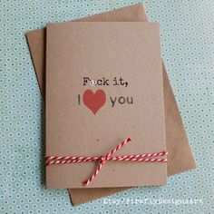 F it, I love you! I Love You Funny, My Love, Irish Greetings, Kraft Envelopes, Birthday Cards, Greeting Cards, Dots, Messages, Writing