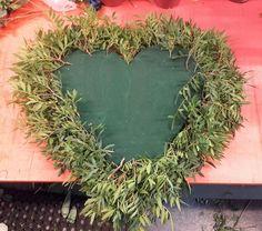 Stor oasis hjerte. Grønt satt på rundt hjertet, ikke i midten. 6/9