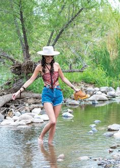 Summer styles take a walk on the wild side with big, bold colors and patterns and no holds barred on the bling! Leather Clogs, Leather Booties, Greeley Hat Works, Durango Boots, Faux Leather Dress, Short Fringe, Bandana Print, Turquoise Cuff, Cowgirl Style