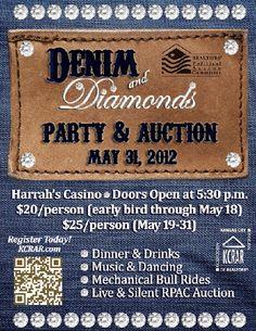 denim & diamonds party ideas - Google Search