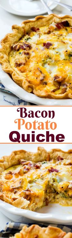 Bacon and Potato Quiche- super easy to make and loaded with flavor!