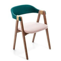 Patricia Urquiola Mathilda Chair - The Mathilda series includes a stackable chair and an armchair with unfussy lines and warm materials. Dining Furniture, Luxury Furniture, Home Furniture, Furniture Design, Sofa Chair, Armchair, Table And Chairs, Dining Chairs, Furniture Inspiration