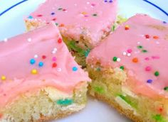 Cake Batter Blondies! Yes please!