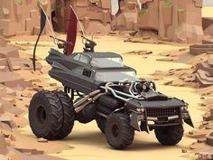 Mad Max Cars, ben regimbal on ArtStation at https://www.artstation.com/artwork/Jw6mn