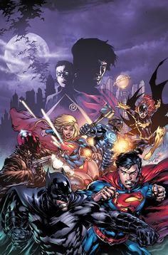 Batman/Superman Annual #1 - Batman, Superman, Supergirl, Red Hood, & Steel by Ed Benes *