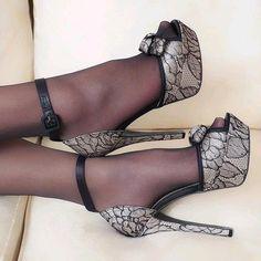 buckle sandals with platform high heels High Heels Boots, Platform High Heels, Black High Heels, Pumps Heels, Stiletto Heels, Heel Boots, Pantyhose Heels, Stockings Heels, Talons Sexy