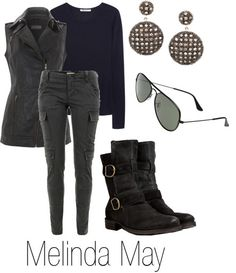 Melinda May from Agents of Shield by ja-vy on Polyvore