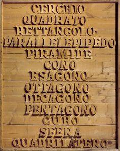 Mario Ceroli, La geometria quale paesaggio pittoresco, 1974 Tornabuoni Art - La Dolce Vita Courtesy Tornabuoni Art