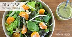 Thai Salad with Cilantro Lime Dressing Recipe