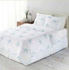 Starfish, Beach House, Tropical KING Quilt & Sham Set (3 Piece Bedding) Beach House http://www.amazon.com/dp/B00K3ZPEL2/ref=cm_sw_r_pi_dp_E253ub0B972SA