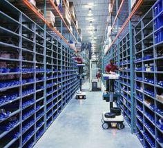 Monster Bins Shelf Bins in Warehouse setting ...  See our entire selection at: http://monsterbins.com/ #MonsterBins #StorageBins #PlasticBins #Retail #Storage #Warehouse #Inventory #Parts #Efficiency #Clutter #Organization #mro #industrial