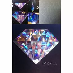 CD Mosaic Diamond (reusing old CDs to make an awesome diamond mosaic)Shine bright like a diamond (i can not resist,sorry!) by Larissa Di Angelo Diy Arts And Crafts, Paper Crafts, Diy With Kids, Recycled Cds, Cd Diy, Deco Originale, Diy Recycle, Diy Wall Art, Mosaic Art