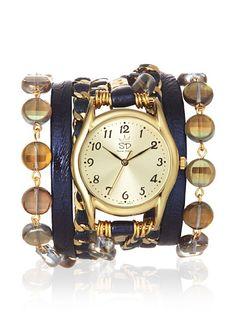 Sara Designs Women's W46M Metallic Navy Boho-Chic Italian Leather Wrap Watch, http://www.myhabit.com/redirect?url=http%3A%2F%2Fwww.myhabit.com%2F%3F%23page%3Dd%26dept%3Dwomen%26sale%3DA34B7PRRS0R5TV%26asin%3DB00CQ7YR5O%26cAsin%3DB00CQ7YR5O
