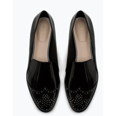 Zara Flat Shoes With Studs ($50) ❤ liked on Polyvore