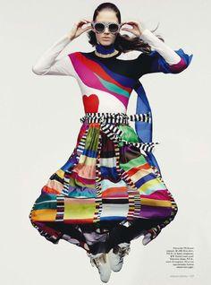 """Rich Mix"" | Model: Josephine Van Delden, Photographer: Robbie Fimmano, Vogue Australia, January 2015"