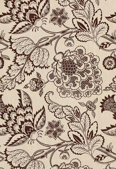 173920 Maracanda Vine Espresso by Schumacher Fabric Motifs Textiles, Textile Patterns, Textile Prints, Textile Design, Fabric Design, Pattern Design, Print Design, Print Patterns, Fabric Wallpaper