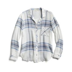 Spring Stylist Picks: Blue plaid shirt - this is the perfect plaid top! Mom Outfits, Pretty Outfits, Cute Outfits, Fashion Outfits, Runway Fashion, Casual Outfits, Women's Fashion, Fashion Trends, Fix Clothing