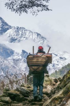 Everything is carried up to the towns in the Everest Region.