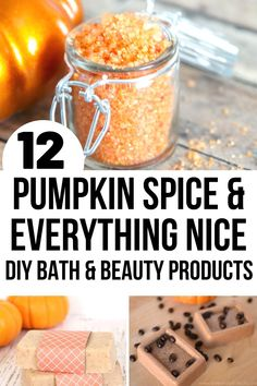 A collection of 12 luxurious DIY pumpkin spice products to help you pamper yourself and enjoy everything about Fall. Try these pumpkin spice and everything nice products - you'll thank me! #pumpkin #pumpkinspice #DIYpumpkinspice #DIYpumpkinspicesoap Pumpkin Dishes, Diy Pumpkin, Pumpkin Spice, Autumn Crafts, Fall Crafts For Kids, Fun Crafts, Diy Beauty Items, Bath And Body, Healthy Eating