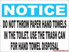 Bathroom Signs For Business restroom signs | feminine hygiene products signs | do not flush