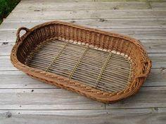 Big Basket, Basket Tray, Willow Weaving, Basket Weaving, Sisal, Flax Fiber, Newspaper Basket, Upcycled Home Decor, Basket Decoration