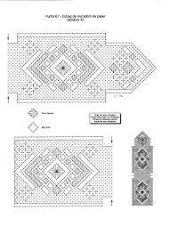 Risultati immagini per patrones de bolsos de encaje de bolillos
