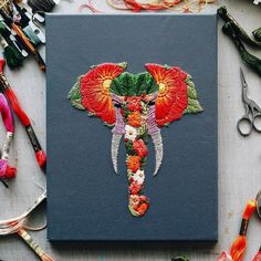 Цветочный рай: яркая вышивка Walker Boyes - Ярмарка Мастеров - ручная работа, handmade