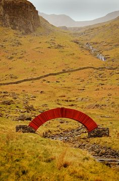 ○ Paperbridge by Steve Messam. Made of 20,000 sheets of paper across a stream in the UK's Lake District