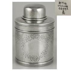 Gorham sterling silver tea caddy, c1891