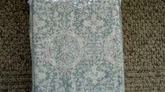 Pottery Barn Sammie Tile Shower Curtain Porcelain Blue NIP