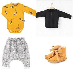 If the girls get pink ( scroll back) the baby boys get some mustard romper pants babyjacket with rebelious print on the back booties // link in bio // Baby Boy Outfits, Kids Outfits, Romper Suit, Mix N Match, Kids Fashion, Rompers, Mustard, Babies Clothes, Pink