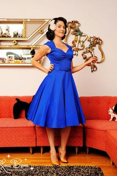 Pinup Couture - Heidi dress in Royal Blue #TopVintage