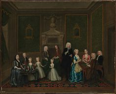 """""""The Strong Family"""" by Charles Philips (1732) at the Metropolitan Museum of Art, New York"""