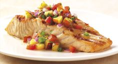 BBQ GRILLING #BBQ #Grilling Salmon with Nectarine Salsa