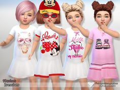 Cute,new nightgowns in 2 versions.  Found in TSR Category 'Sims 4 Toddler Female'
