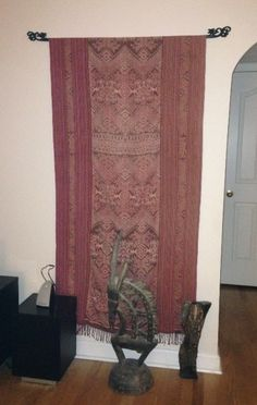 It all works together! Exquisite Old Ikat Textile from West Timor (Gado Gado) and Old African sculpture.