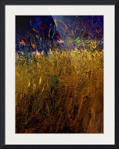 """Blades Of Grass"" by RUTH PALMER, Calgary // Abstract landscape. Textured oil on canvas. // Imagekind.com -- Buy stunning fine art prints, framed prints and canvas prints directly from independent working artists and photographers."